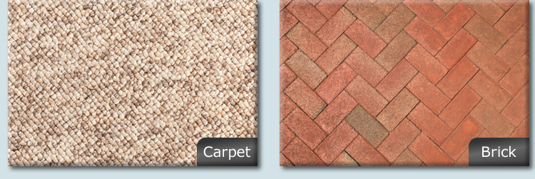 HIMM Solutions works on carpet and brick surfaces.