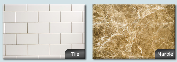 HIMM Solutions works on tile and marble surfaces.